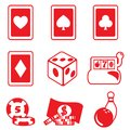 Gambling icon set Stock Image
