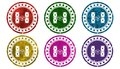 Gambling icon,sing,illustration Royalty Free Stock Photo