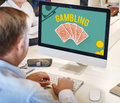 Gambling Luck Jackpot Risk Wager Concept Royalty Free Stock Photo