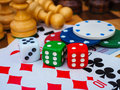 Gambling and mind games Royalty Free Stock Photo