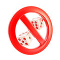 Gambling is not allowed forbidden sign Stock Photos