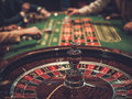 Gambling table in luxury casino Royalty Free Stock Photo