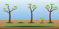 Game asset trees bushes grass set Royalty Free Stock Photo