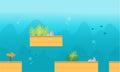 Game background style underwater
