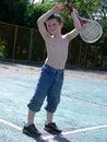 Game of badminton Royalty Free Stock Photo