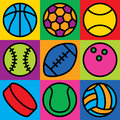 Game Ball Icons Royalty Free Stock Photo