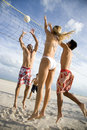 A game of beach volleyball Royalty Free Stock Photo