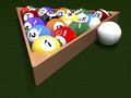 The game of billiards Royalty Free Stock Photography