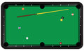 Game of billiards situation the vector illustration Royalty Free Stock Image