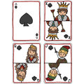 Game cards set of pictured spade Royalty Free Stock Photo