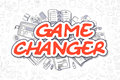 Game Changer - Doodle Red Text. Business Concept.