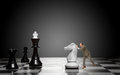 Game of chess to move the queen Stock Images