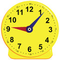 Game clock for children teaching the subject vector illustration Royalty Free Stock Images