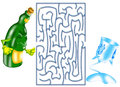 Game color illustration of a funny labyrinth for children Stock Images