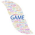 Game concept illustration graphic tag collection wordcloud collage Royalty Free Stock Image