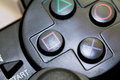 Game controller close up joy sticks are usually used as computer accesories Royalty Free Stock Photo