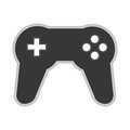 Game controller icon grey flat design of illustration Royalty Free Stock Photo