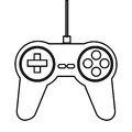 Game controller icon simple black line illustration Stock Images