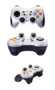 Game controller set of a isolated on a white background Royalty Free Stock Image