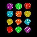 Game dice icons Royalty Free Stock Photo