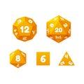 Game dice set. Royalty Free Stock Photo