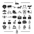 Game, entertainment, recreation and other web icon in black style.vegetables, fruits, vitamins, icons in set collection.