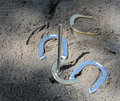 A Game of Horseshoes Stock Images