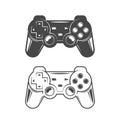 Game joystick illustration