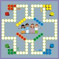 Game kids for they play four players each has four pieces and dice Stock Photography