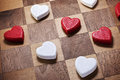 Game Love Heart Checkers Royalty Free Stock Photo