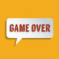 Game over concept for everything has its end flat design element Royalty Free Stock Photo