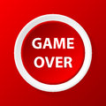 Game over icon in a unique style Stock Photography