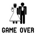 Game Over wedding Stock Photography