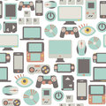 Game pattern seamless with icons Royalty Free Stock Image