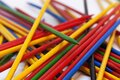The game pick stick with lots of little colored wooden sticks that are random Royalty Free Stock Photo