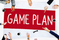Game Plan Strategy Tactic Planning Vision Concept Royalty Free Stock Photo