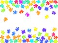 Game teaser jigsaw puzzle rainbow colors parts