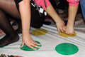The game twister a pleasant pastime background Stock Images
