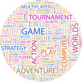 Game word cloud illustration tag cloud concept collage Royalty Free Stock Image
