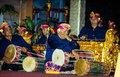 Gamelan ensemble plays during the galungan festival ubud indonesia jul a musical on july th in ubud indonesia is held Royalty Free Stock Images