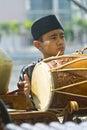 Gamelan Player Royalty Free Stock Photo
