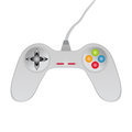 Gamepad game joystick on white background Royalty Free Stock Photography