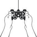 Gamepad in hands icon - game console controller