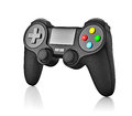 Gamepad joypad for video game console isolated on white background with reflection Royalty Free Stock Images