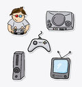 Gamer icons Royalty Free Stock Images