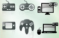 Gamer icons awesome vector game to scale to any size Royalty Free Stock Image
