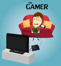 Gamer a that play video game Royalty Free Stock Photography