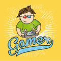 Gamer sketch Stock Images