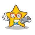 Gamer star character cartoon style