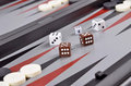 Games backgammon leisure board with chips and dice Royalty Free Stock Photo